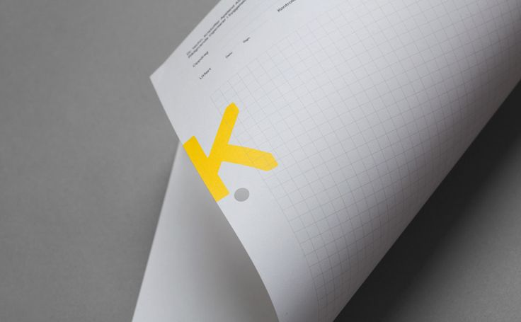 Visual identity and grid paper with bright yellow spot colour detail by Norwegian graphic design studio Bielke&Yang for engineering consultancy K Apeland