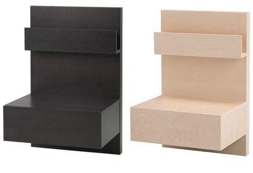 Ikea malm floating nightstand ikea pinterest - Ikea bed frame with attached nightstand ...