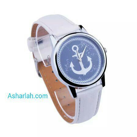 Anchor watch white and blue