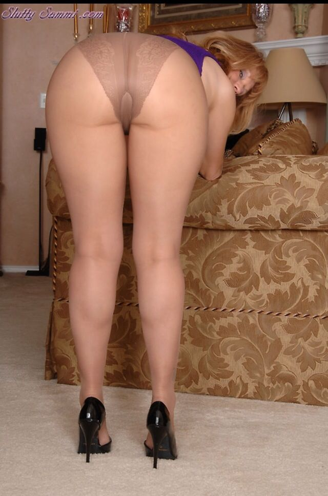 Think, sheer pantyhose ass