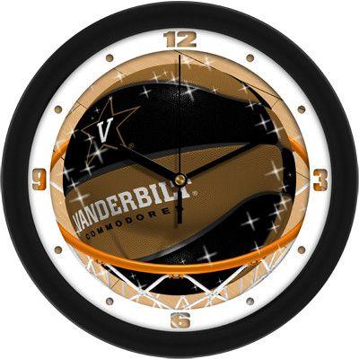 Mens Vanderbilt Commodores - Slam Dunk Wall Clock