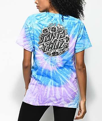 a89d32cb Santa Cruz Cali Poppy Blue Tie Dye T-Shirt | Women's Shirts/Tops in ...