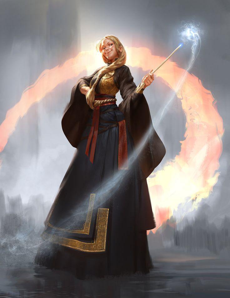 Kari Sigfridsdottir by Mischeviouslittleelf - female sorcerer wizard witch sorceress mage