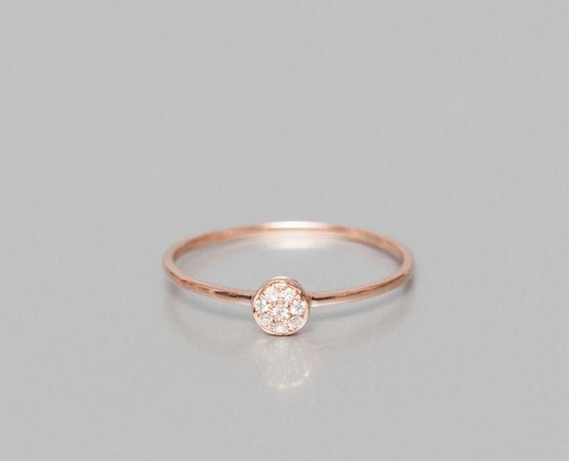 Bague de fiançailles en or rose et diamants - Bague: O Fée, modèle Pop - La Fiancée du Panda blog Mariage et Lifestyle