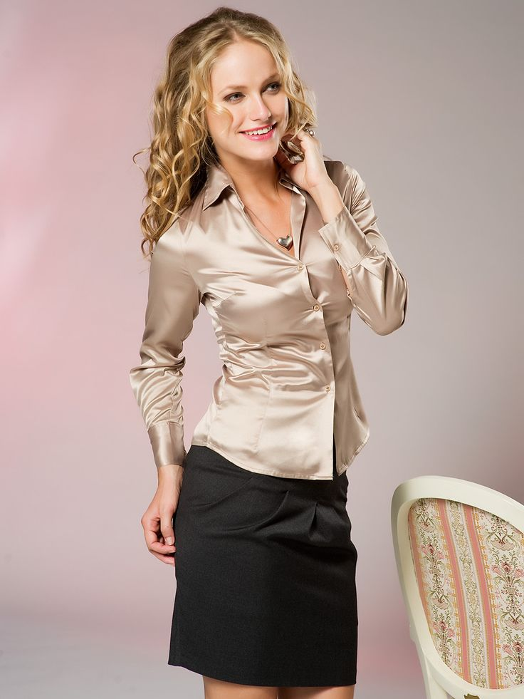 Gold Satin Blouse | Fashion Ql