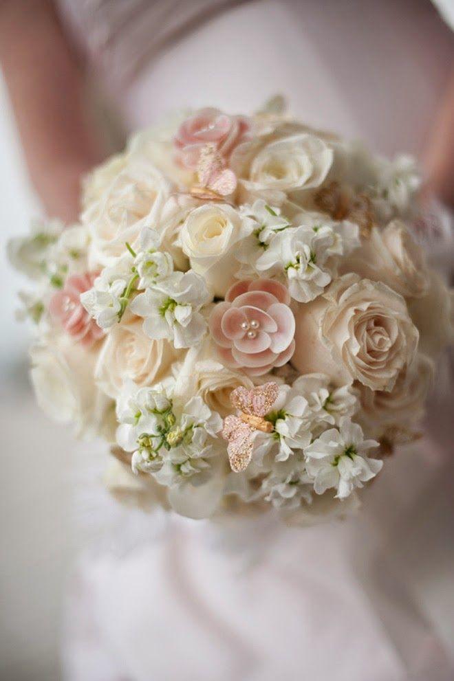 Soft #wedding bouquet ~ Ned Jackson Photography, Wild Bunch Studio | bellethemagazine.com