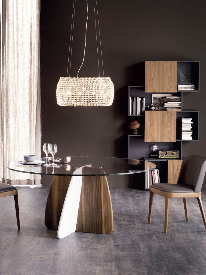 Crystal #table GLENN by Cattelan Italia | #design Gino Carollo #interiors #wood