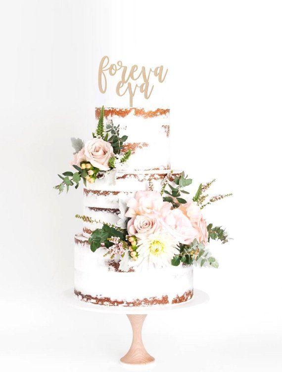 Foreva Eva Wedding Cake Topper l Wedding Cake Topper l Forever Cake Topper l Anniversary Cake Topper l Wedding Topper – novias