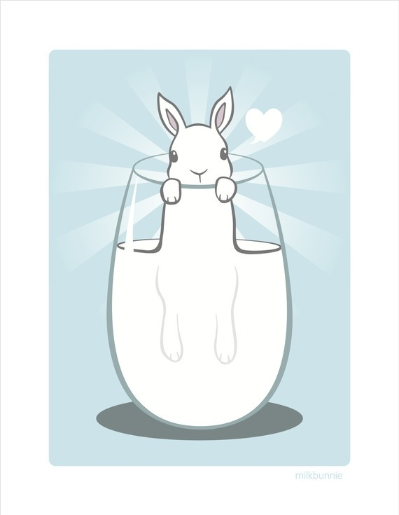 """Milk Bunnie"" by Amy Amok (02/22/15)"