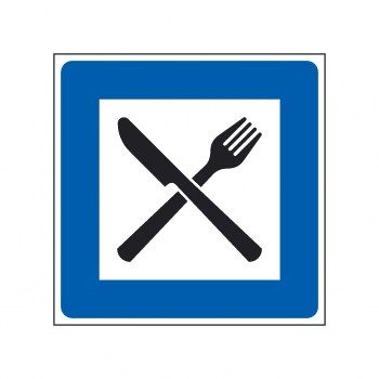 Restaurant Piktogramm Messer und Gabel Schild und