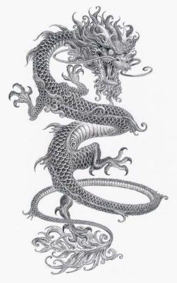 Diseños Tradicionales E Imagenes De Dragones Para Tatuajes