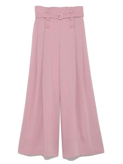 ベルト付きタックワイドパンツ(ワイドパンツ)|Lily Brown(リリーブラウン)|ファッション通販|ウサギオンライン公式通販サイト