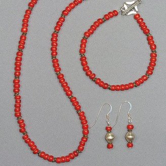Historical Bead Jewellery by Marcia Fossey (Edmonton, AB). Member of the Alberta Craft Council.