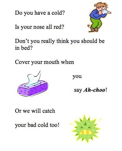 germ poem for preschoolers - Google Search