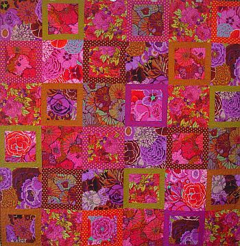 Kaffe Fassett Autumn Floral Parade Kit, 66x66 inches, pattern in Kaffe Fassett's 'Quilts in the Sun'