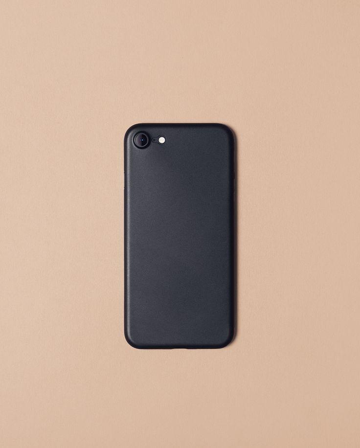 Nudient solid black slim case for iPhone 7