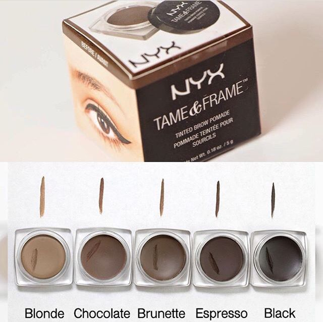 NYX Tame and Frame for Eyebrows--dupe for ABH Dipbrow Pomade