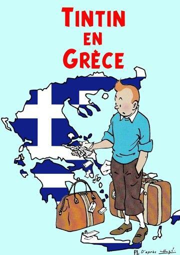 Tintin en Grece