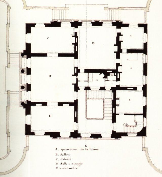 Plans du Petit Trianon - premier étage (first floor)