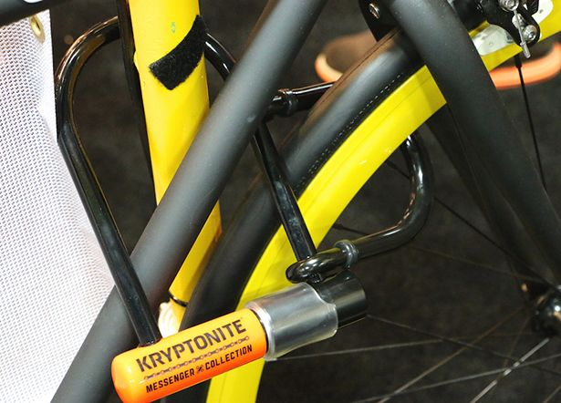 Kryptonite's new Messenger Mini + U-lock is a compact, high-security lock with a secondary shackle that secures a wheel in addition to the frame.