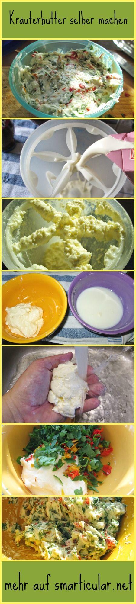 Butter ist sehr einfach selber hergestellt und mit ein paar feinen Kräutern und Salz hast du im Handumdrehen auch deine eigene Kräuterbutter. Wir zeigen wie