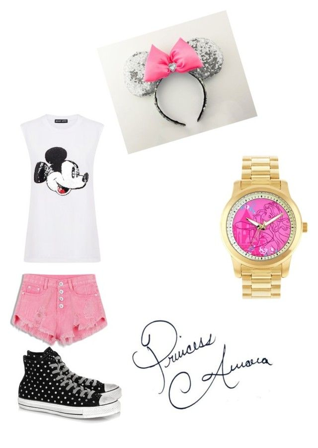 """""""Princess Aurora Disney Outfit"""" by aimee-nikkole-novy on Polyvore featuring Disney, Markus Lupfer and Converse"""