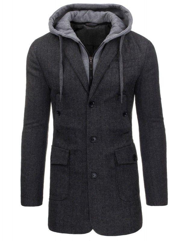 Pánský kabát Lipo, světle šedý