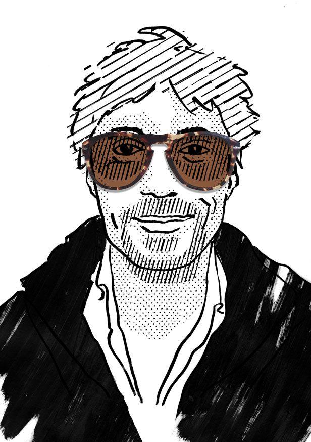 Noël wearing Persol, illustration by Julia Kaiser. #eyewearportraitproject #faces #portrait #drawing #illustration #fashion #eyewear #glasses #shades #frames #vintage #shadow #blackandwhite #fashionillustration #studiojuliakaiser #eyewearvintage #persol