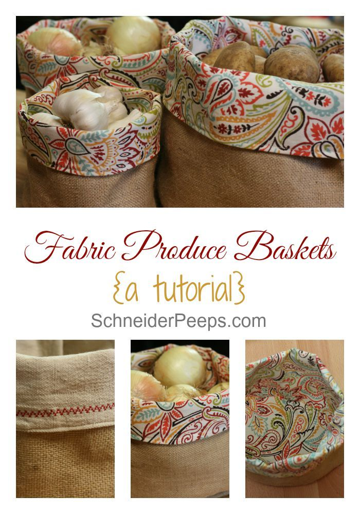 Not sure how to keep potatoes, onions and garlic handy and yet, tidy? These burlap produce baskets are the answer. This post has a full tutorial so you can make them to match your kitchen.