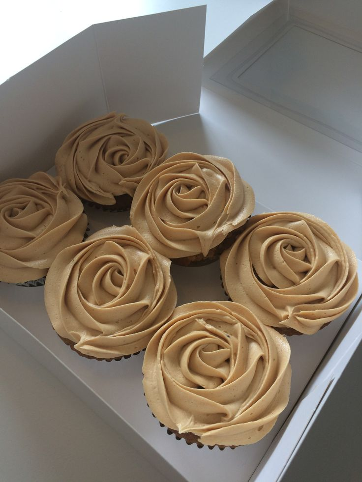 Sticky Toffee cupcakes, with a caramel buttercream