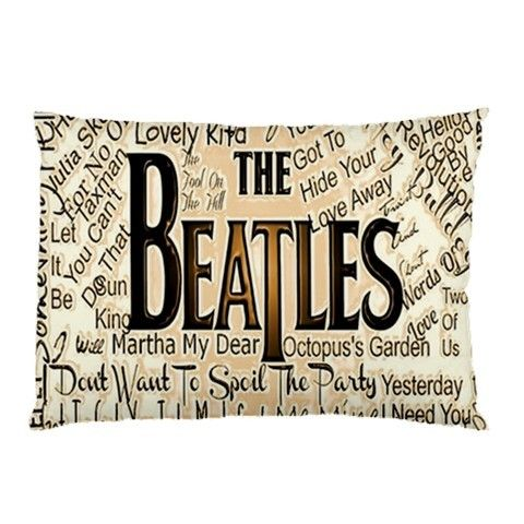 Pillow case the Beatles 2 sides  best gift for husband, best gift for wife, best gift for girlfriend, best gift for grandma, best gift for grandchildren, best gift for sister, best gift for brother, best gift for son, best gift for daughter, best gift for boy, best gift for gift, best gift for mom, best gift for dad