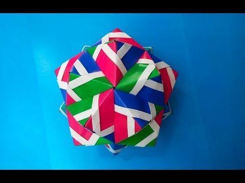 Кусудама мяч оригами (Toshiaki Hojo), Kusudama ball origami - YouTube