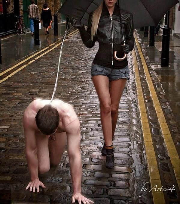 """teach-boys-obedience: """" teen-femdom-love: """" submissivegames: """"you see it every day without realizing it. perhaps he walks just a few steps behind Her everywhere they go. he is always waiting to carry..."""