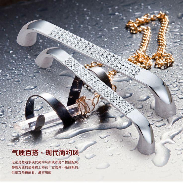 $11.50 (Buy here: https://alitems.com/g/1e8d114494ebda23ff8b16525dc3e8/?i=5&ulp=https%3A%2F%2Fwww.aliexpress.com%2Fitem%2FFurniture-wardrobe-cabinet-handle-drawer-handles-child-simply-lengthened-hole-solid-zinc-alloy-diamond-silver%2F32645295409.html ) Furniture wardrobe cabinet handle drawer handles child simply lengthened hole solid zinc alloy diamond silver for just $11.50