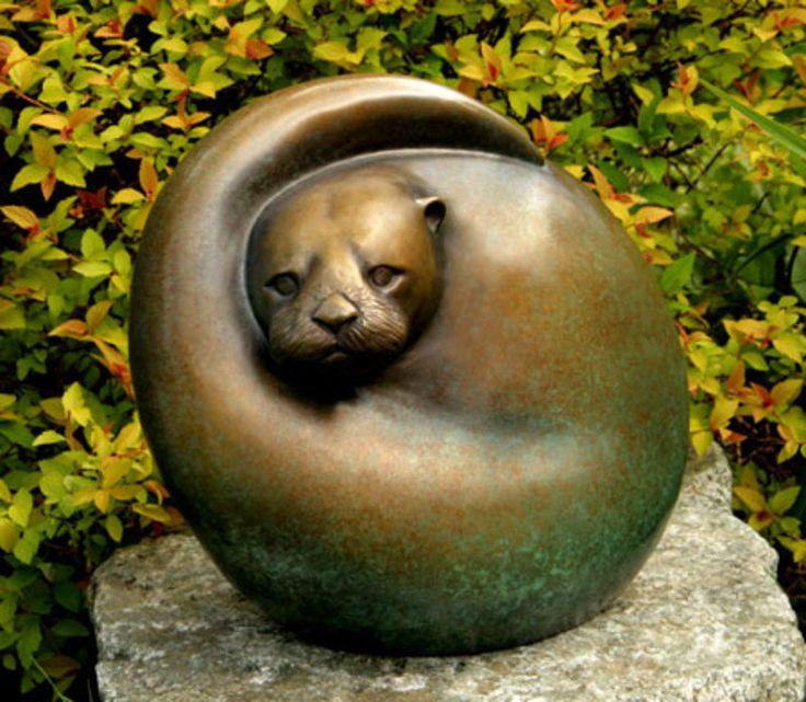 Visit WaterWorks Gallery in Friday Harbor WA to view Sculptures by Northwest Artist, Georgia Gerber