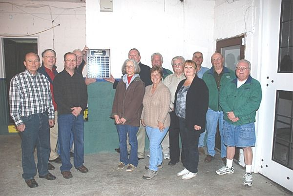 Left to right: Jim Ridge, Roger Luksik, Keith Dromowicz, Bruce Blevins, Hilary Davis, John MacArthur (behind Hillary), Ken Hayden, Sue Tolonen (in front of Ken), Larry Telles, Sophie Griesbeck, Alan Mabbott, Bruce Webster, and Tom Mitchell.