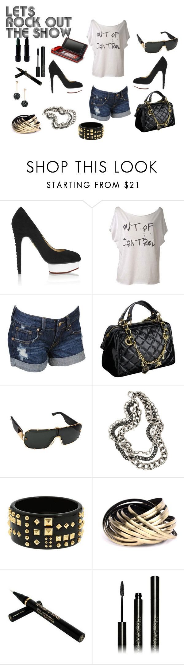 """""""Rocker Chick"""" by fashionmommie11 ❤ liked on Polyvore featuring Charlotte Olympia, Forever 21, Star by Julien Macdonald, Linda Farrow, Giles & Brother, ABS by Allen Schwartz, ASOS, Rockstar Sushi, Chanel and Giorgio Armani"""