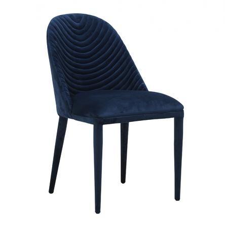 Lucille Dining Chair - Navy Velvet