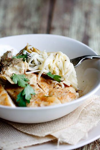 Angel hair pasta with Artichokes and Chicken