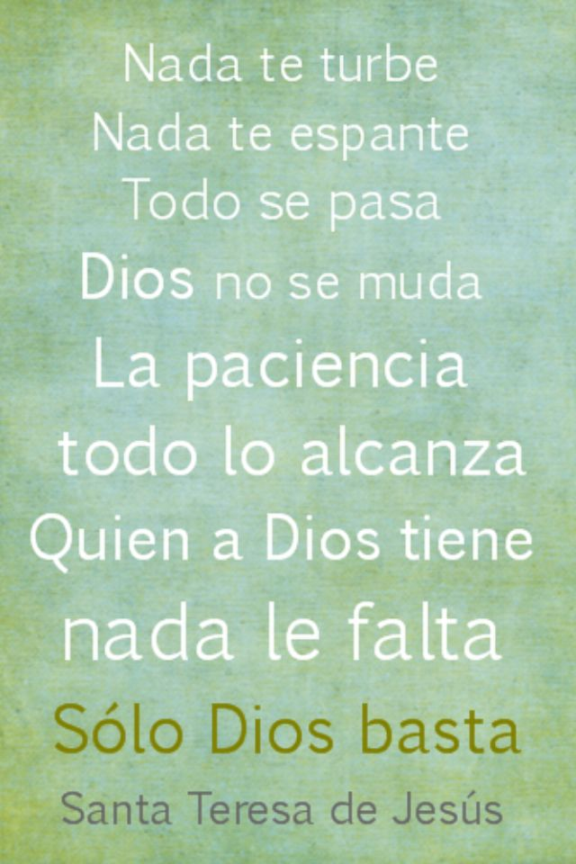 SAINT TERESA  SPANISH QUOTES