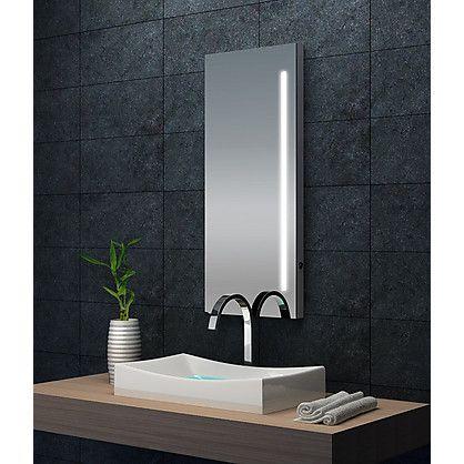 Specchio da Bagno Sirio con Illuminazione Neon Integrata cm 42x100