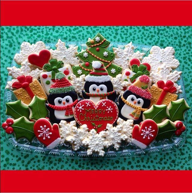Penguin Christmas cookies