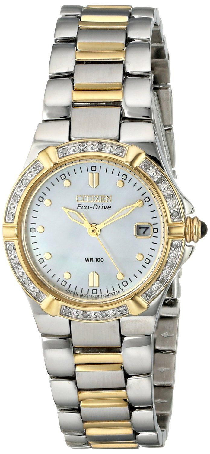 Citizen Women's EW0894-57D Eco-Drive Riva Diamond-Accented Watch * Read more reviews of the watch by visiting the link on the image. :)