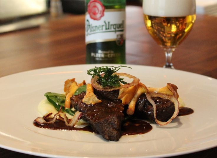 Angus Beef Cheeks Braised in Pilsner Urquell Beer and Mashed Potato #recipe from @Four Seasons Hotel Prague (Praha)