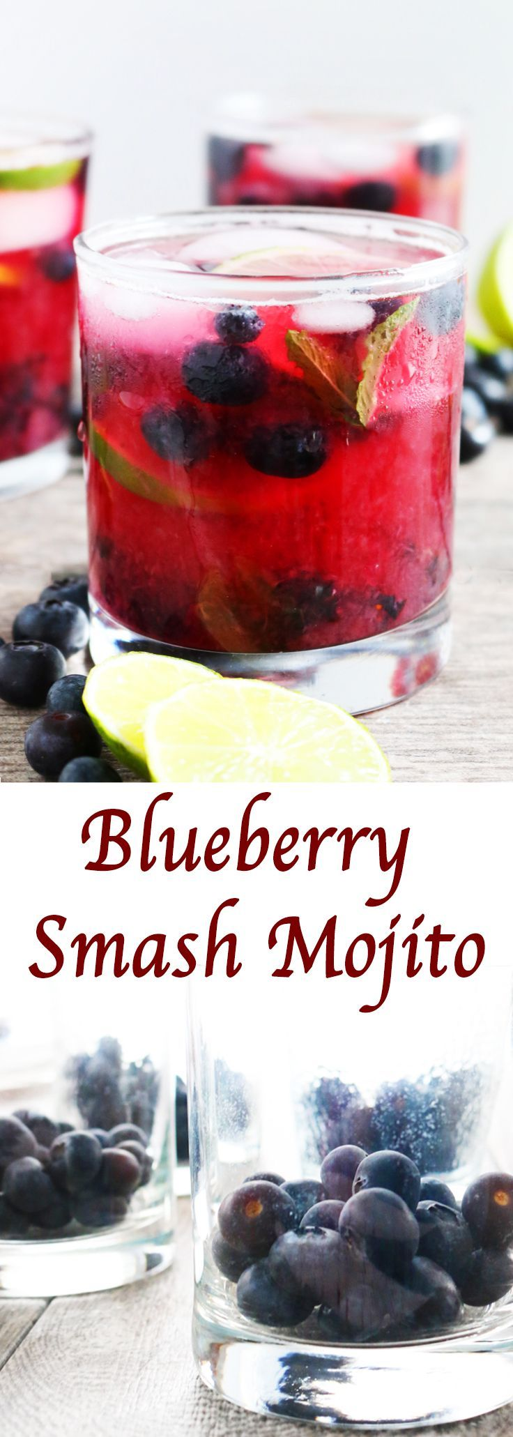 A fruity twist to the classic mojito with fresh spring blueberries!