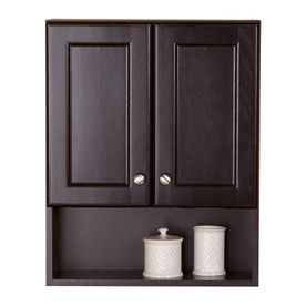Style Selections Clementon Cocoa Wall Cabinet Common 25 In Actual 20 5