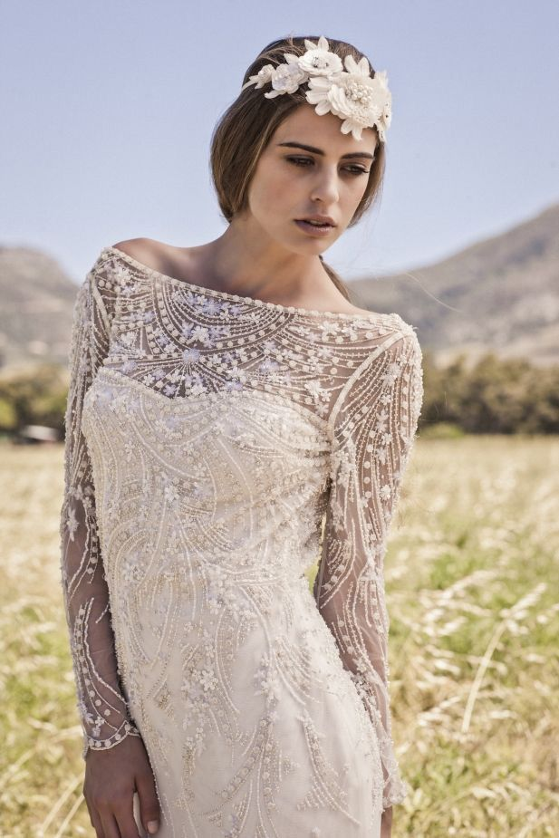 Beautful boho bridal gowns from Bo and Luca   www.onefabday.com   www.onefabday.com