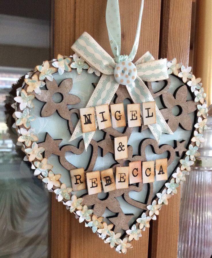 Filigree heart decoration (side 1) eau de nil collection