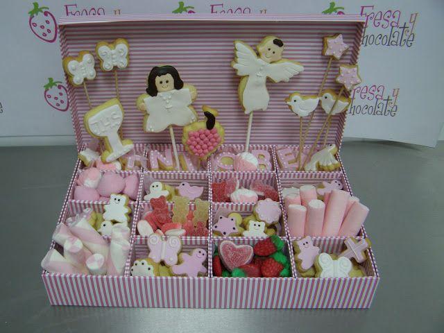 El blog de Fresa y Chocolate:    Una cajita de chuches y galletas para Niobe.  N...