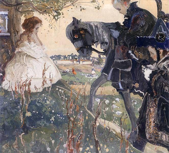"""""""Wezwanie"""", Witold Wojtkiewicz, 1908, National Museum, Wrocław"""